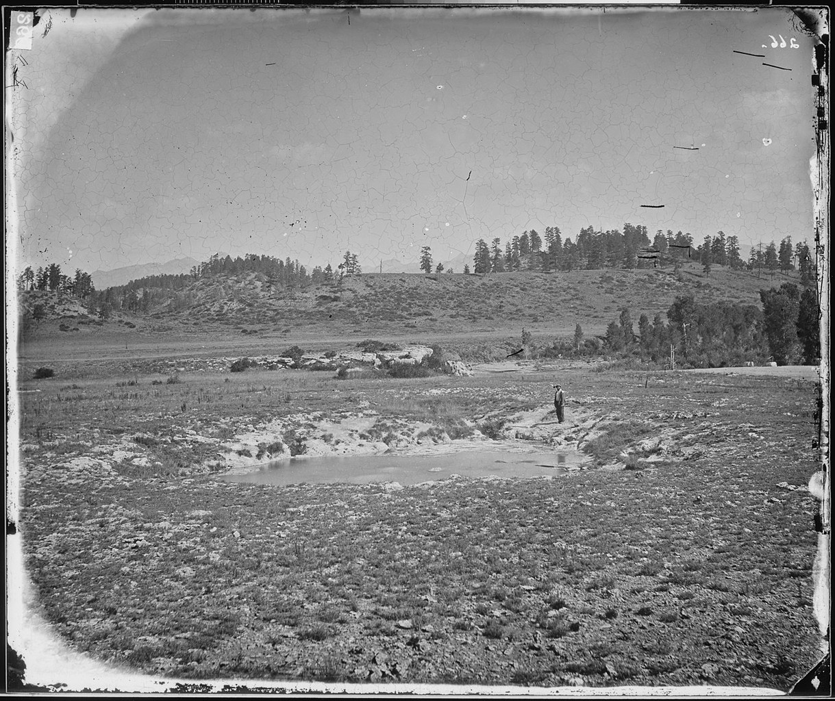 The springs for which the town was named, photographed in 1874