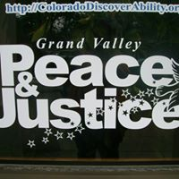 Grand Valley Peace & Justice logo