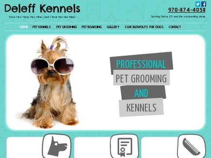 Deleff Boarding Kennels & Grooming Salon logo