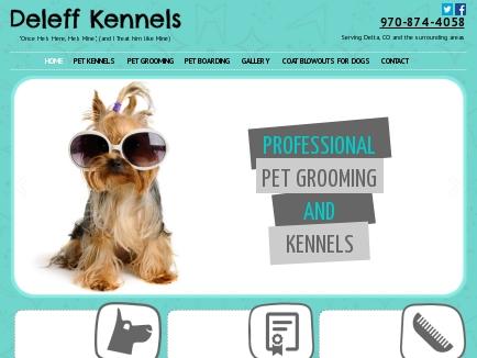 Deleff Kennels Grooming & Boarding logo