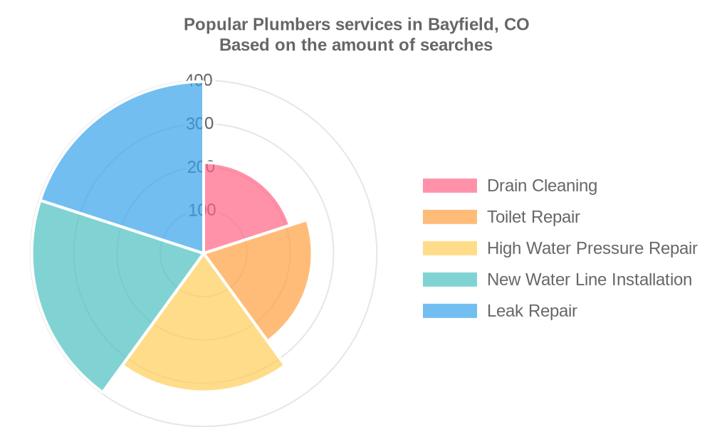 Popular services provided by plumbers in Bayfield, CO
