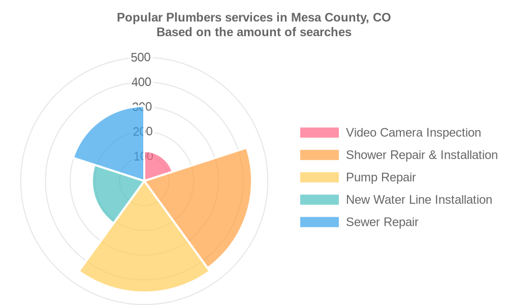 Popular services provided by plumbers in Mesa County, CO