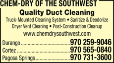 Yellow Pages Ad of Chem-Dry Of The Southwest