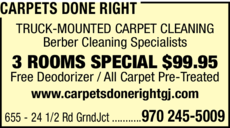 Print Ad of Carpets Done Right