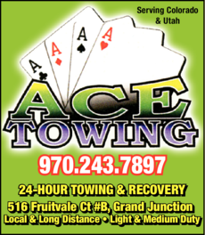 Yellow Pages Ad of Ace Towing