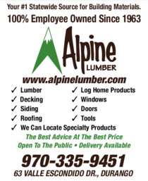 Yellow Pages Ad of Alpine Lumber