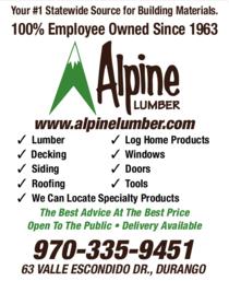 Print Ad of Alpine Lumber