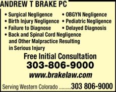Print Ad of Andrew T Brake Pc