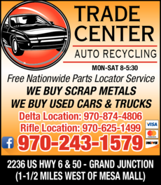 Yellow Pages Ad of Trade Center Auto Recycling Inc