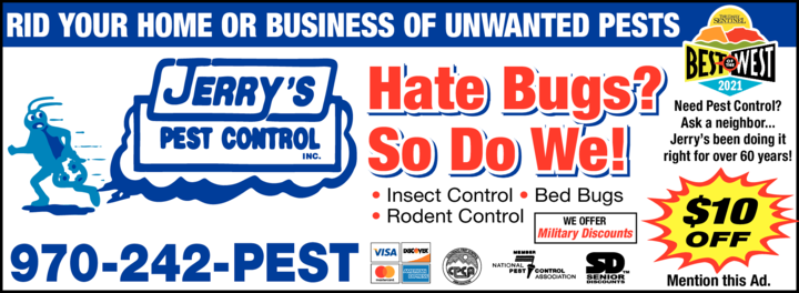 Print Ad of Jerry's Pest Control Inc