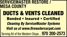 Print Ad of Servicemaster Restore / Mesa County