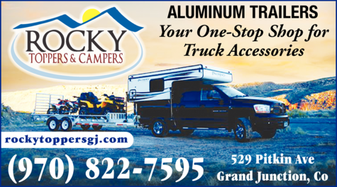 Yellow Pages Ad of Rocky Toppers & Campers