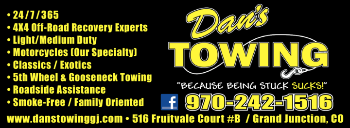Yellow Pages Ad of Dan's Towing