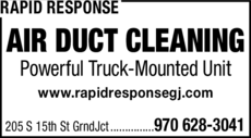 Yellow Pages Ad of Rapid Response