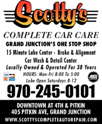 Yellow Pages Ad of Scotty's Complete Car Care