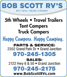 Yellow Pages Ad of Bob Scott Rvs Inc