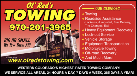 Yellow Pages Ad of Ol' Red's Towing