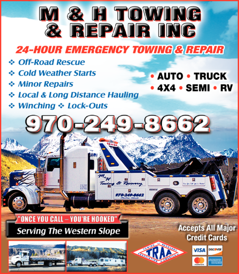 Yellow Pages Ad of M & H Towing & Repair Inc