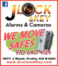 Print Ad of J Lock & Key Alarms & Cameras