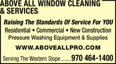 Print Ad of Above All Window Cleaning & Services