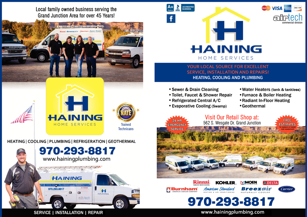 Yellow Pages Ad of Haining Home Services