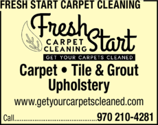 Print Ad of Fresh Start Carpet Cleaning