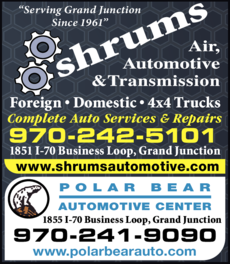 Yellow Pages Ad of Shrum's Automotive