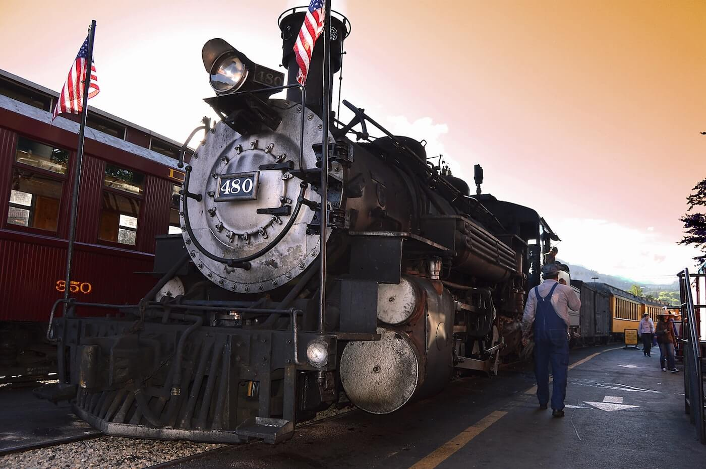 Old train in Durango, CO