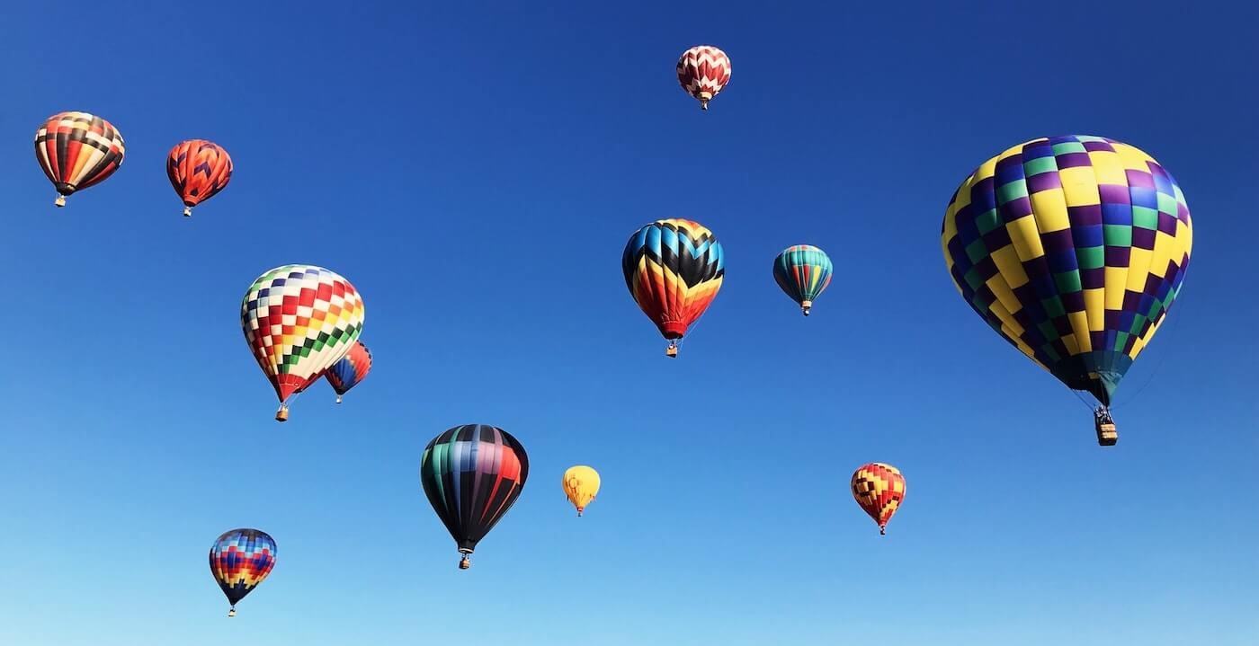 Balloons near Pagosa Springs, CO